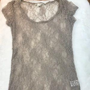 Derek Heart Mesh/Lace Shirt